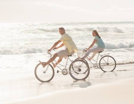 Beach Bike Couple
