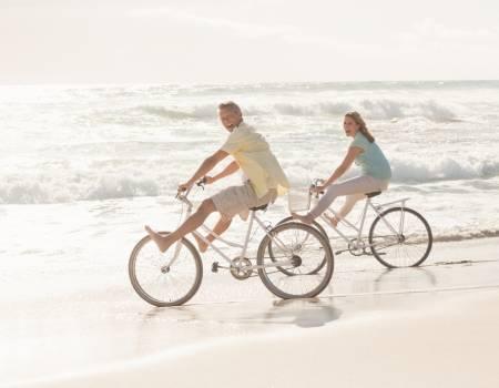 Beach Bike Couple